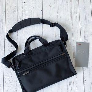 Tumi - Black Slim Laptop Bag